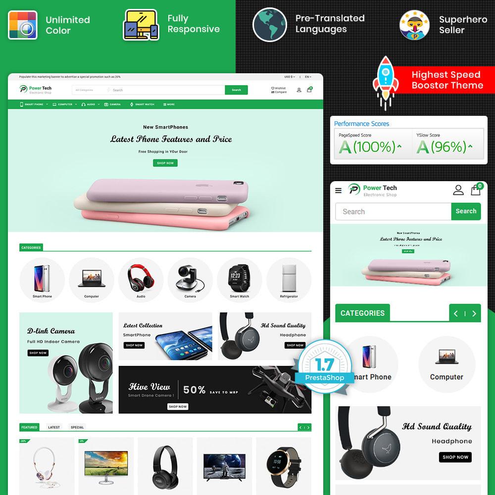 theme - Elektronika & High Tech - PowerTech - Hi-Tech Mega Super Store - 1