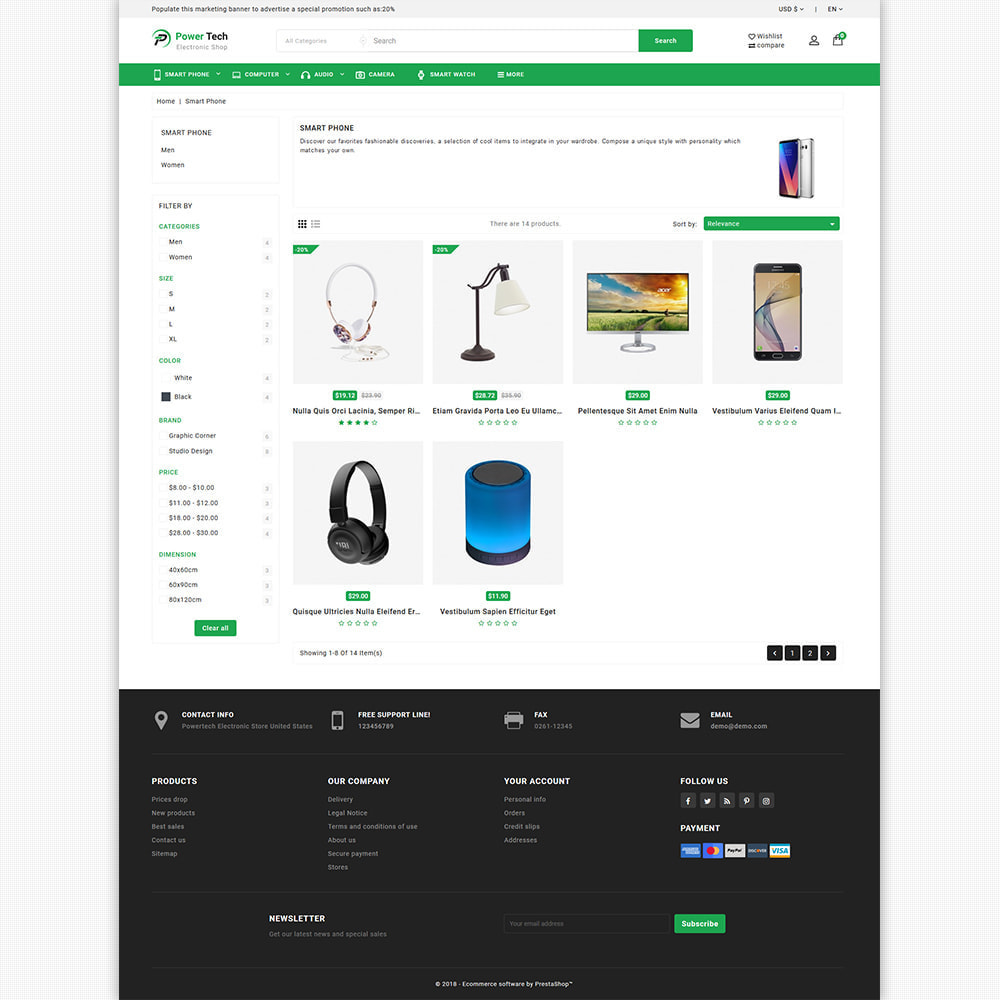 theme - Elektronika & High Tech - PowerTech - Hi-Tech Mega Super Store - 6