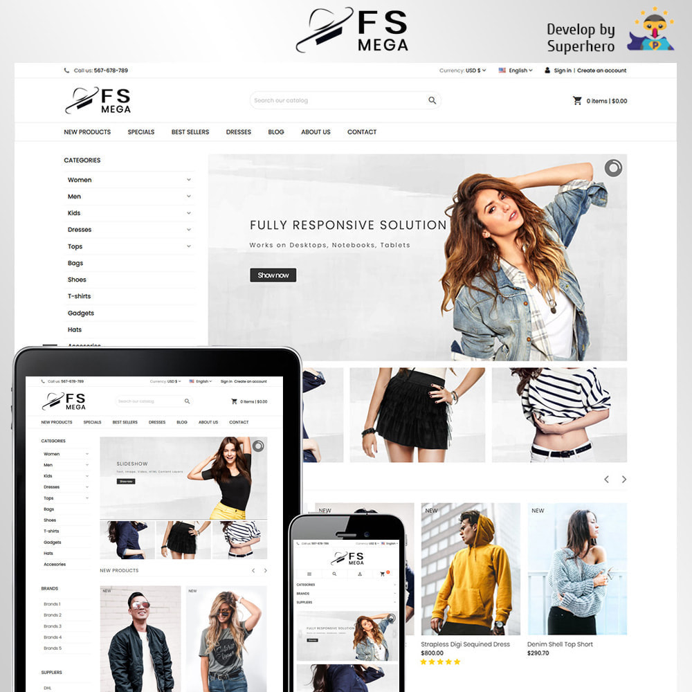 theme - Fashion & Shoes - Mega Fashion Store - 1