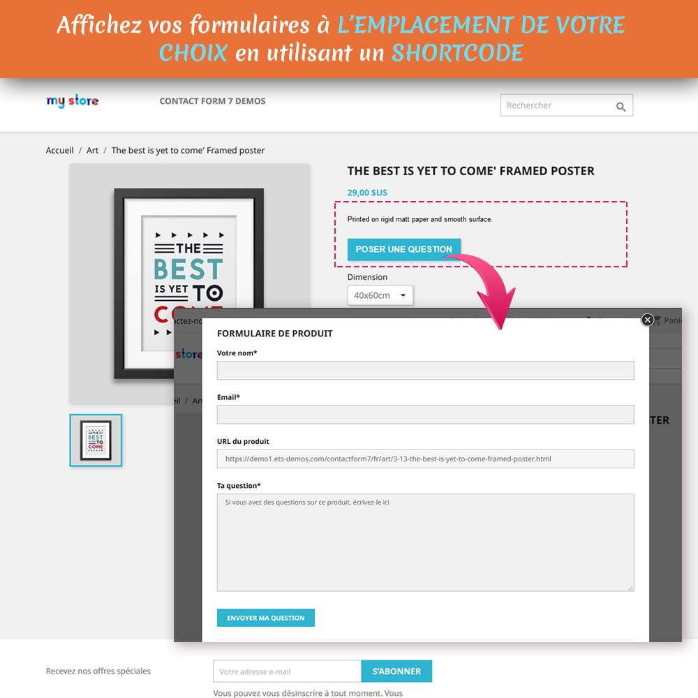 module - Formulaires de Contact & Sondages - Contact Form 7 – Générateur de formulaires de contact - 3