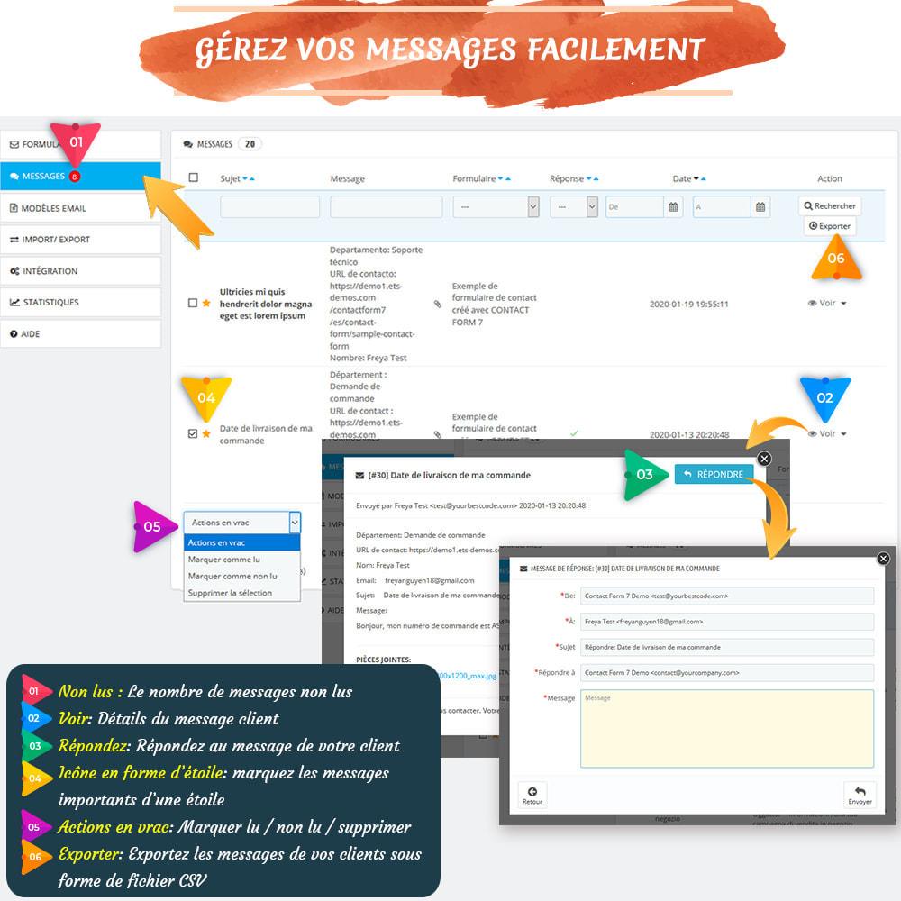 module - Formulaires de Contact & Sondages - Contact Form 7 – Générateur de formulaires de contact - 5