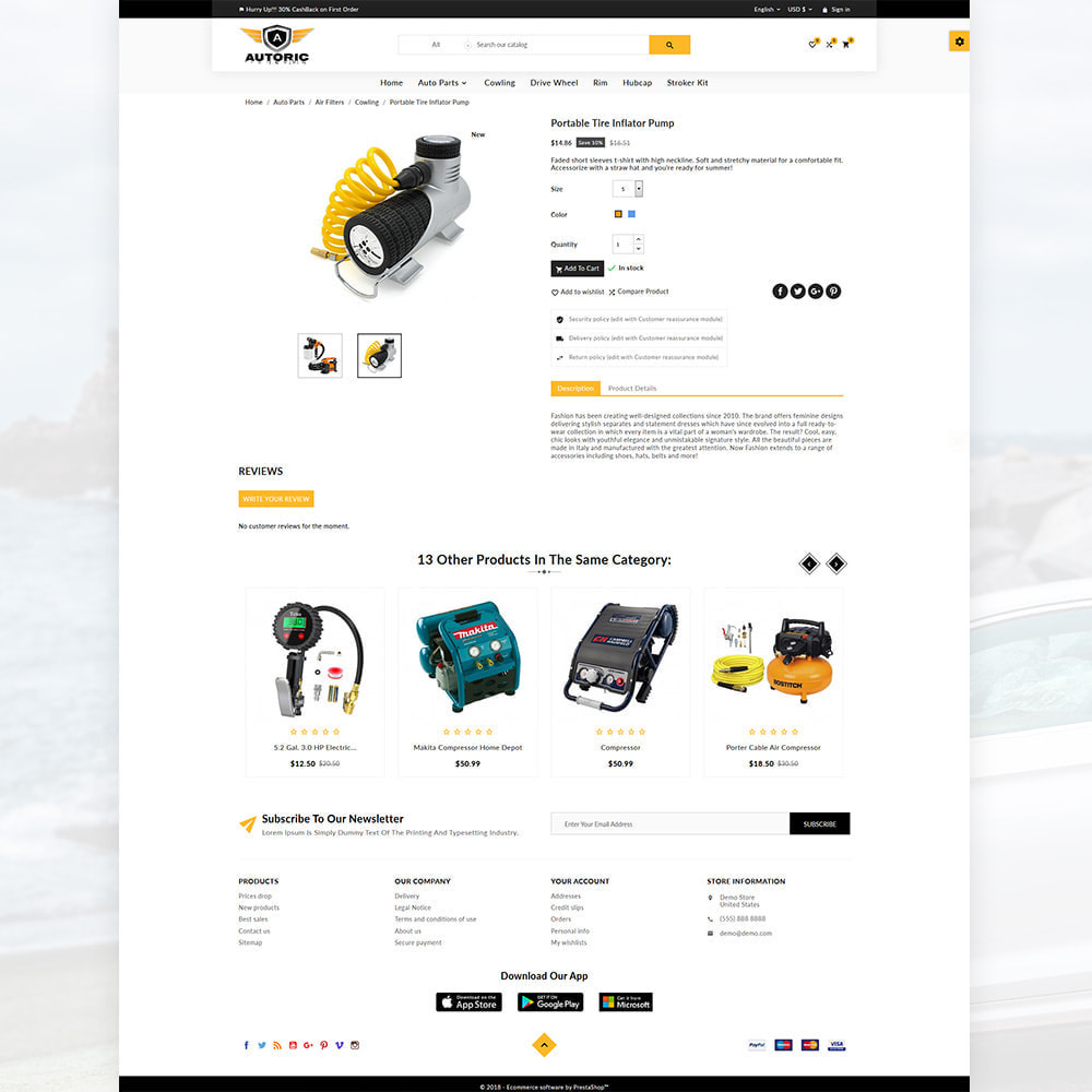 theme - Carros & Motos - Autoric – Autopart and Tools Super Store - 4