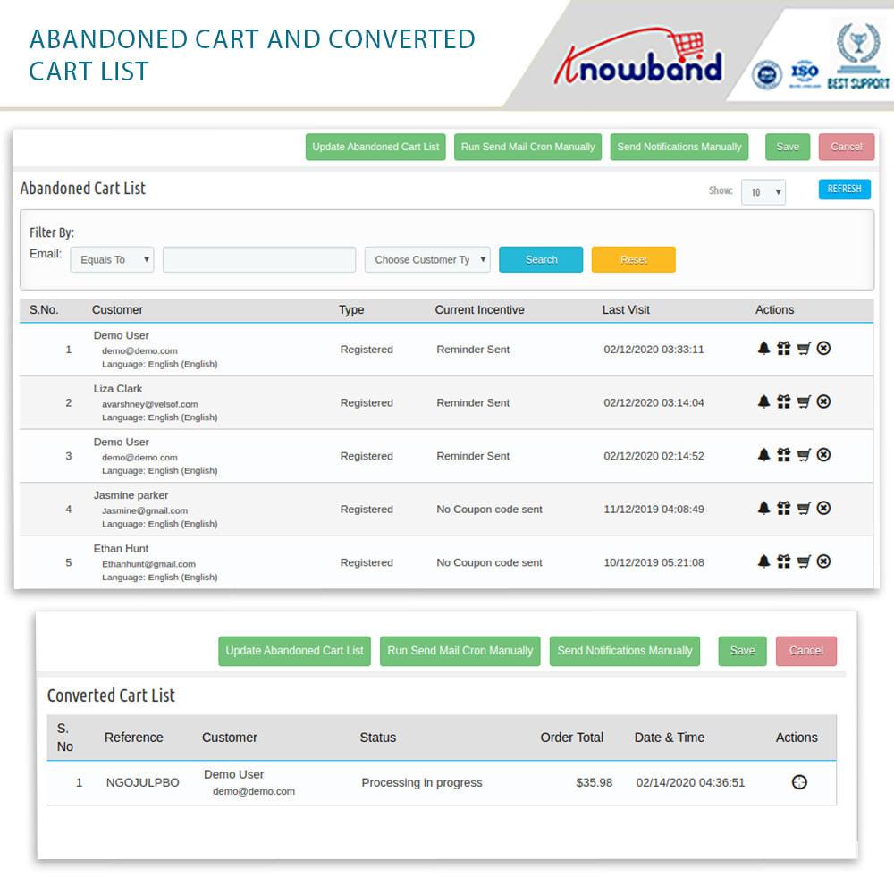 module - Remarketing & Carrelli abbandonati - Knowband-Reminder Periodici Carrello Abbandonato(Smart) - 17