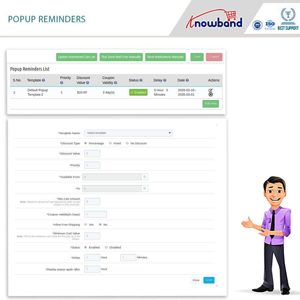 module - Remarketing & Carrelli abbandonati - Knowband-Reminder Periodici Carrello Abbandonato(Smart) - 15