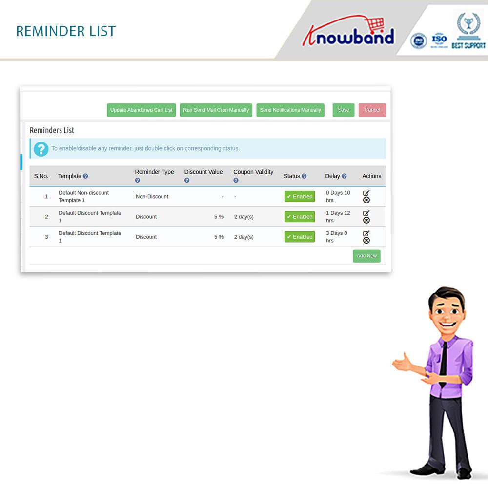 module - Remarketing & Carrelli abbandonati - Knowband-Reminder Periodici Carrello Abbandonato(Smart) - 16
