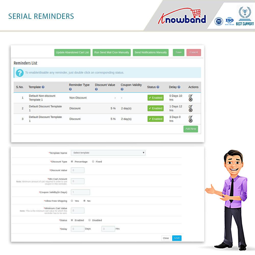 module - Remarketing & Carrelli abbandonati - Knowband-Reminder Periodici Carrello Abbandonato(Smart) - 7