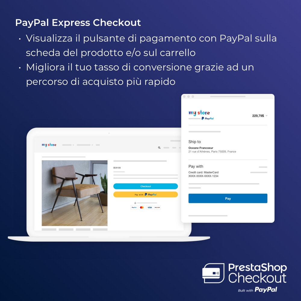 module - Pagamento con Carta di Credito o Wallet - PrestaShop Checkout built with PayPal - 6