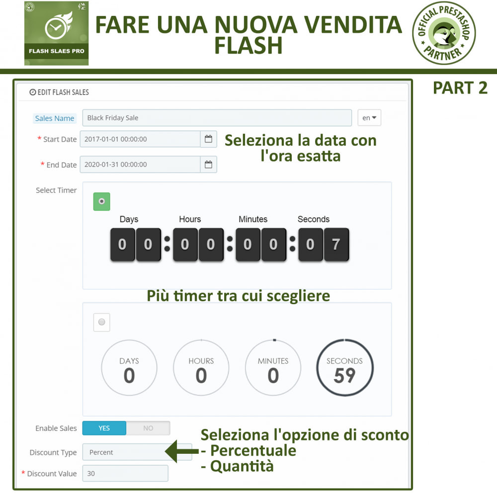 module - Flash & Private Sales - Vendite Flash con Timer di Conto alla Rovescia - 10