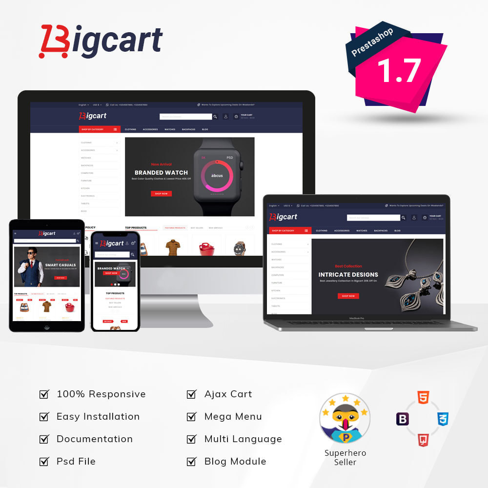 theme - Mode & Schuhe - Bigcart Fashion Store - 1