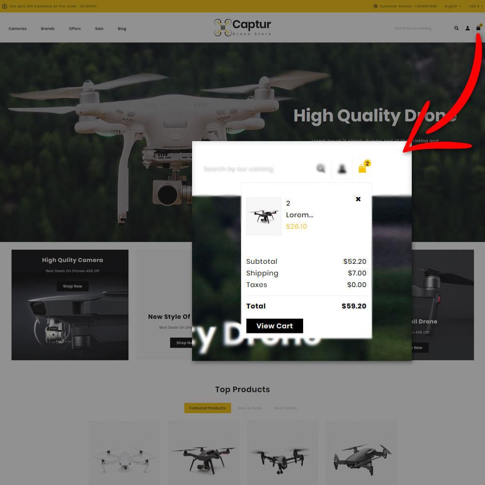 theme - Elektronica & High Tech - Captur Drone Shop - 6