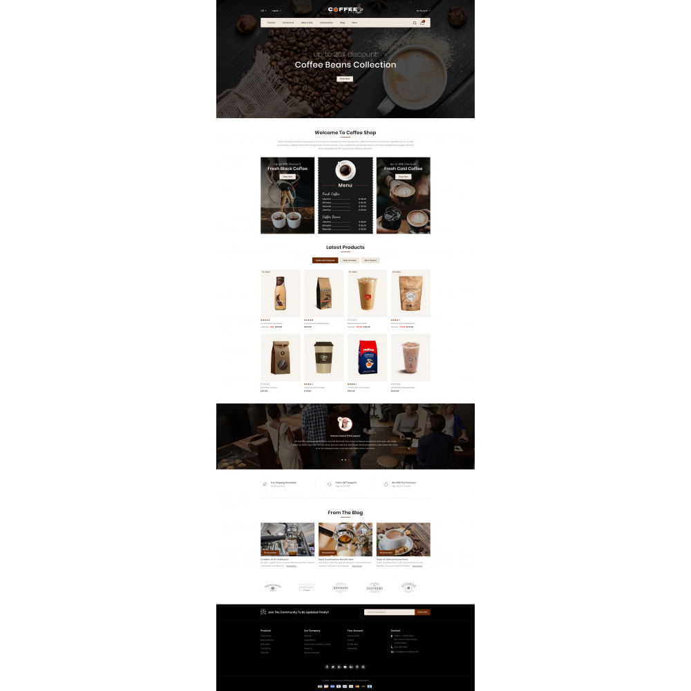 theme - Lebensmittel & Restaurants - Fresh Coffee Shop - 2