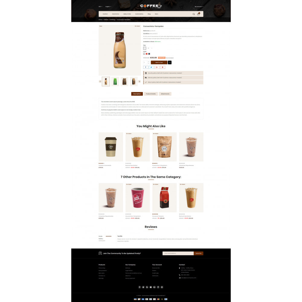 theme - Lebensmittel & Restaurants - Fresh Coffee Shop - 5