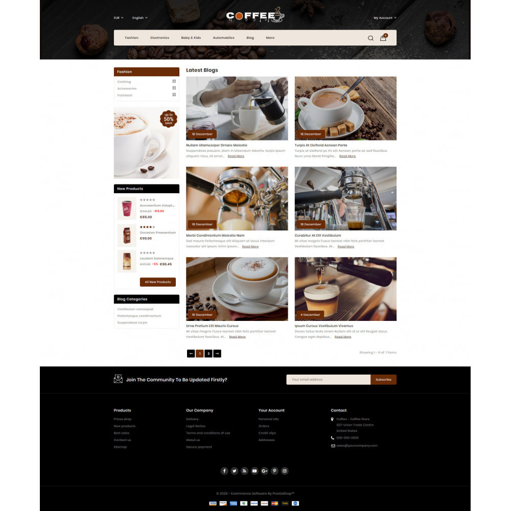 theme - Cibo & Ristorazione - Fresh Coffee Shop - 9