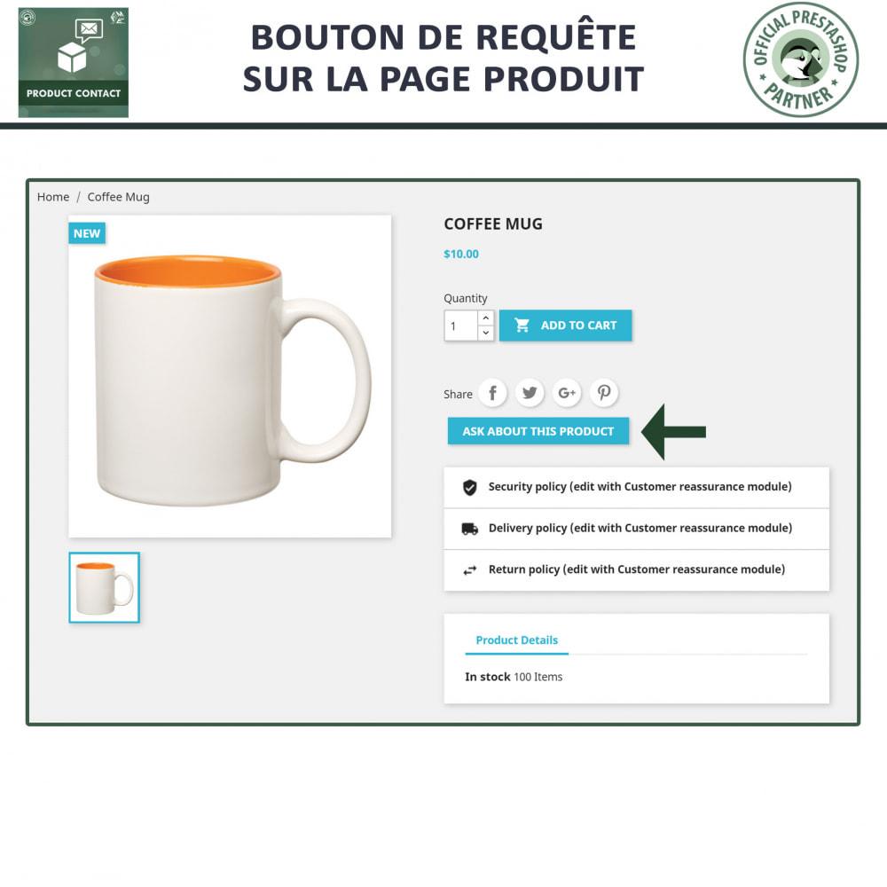 module - Formulaires de Contact & Sondages - Contact du produit  - Formulaire de Demande - 2