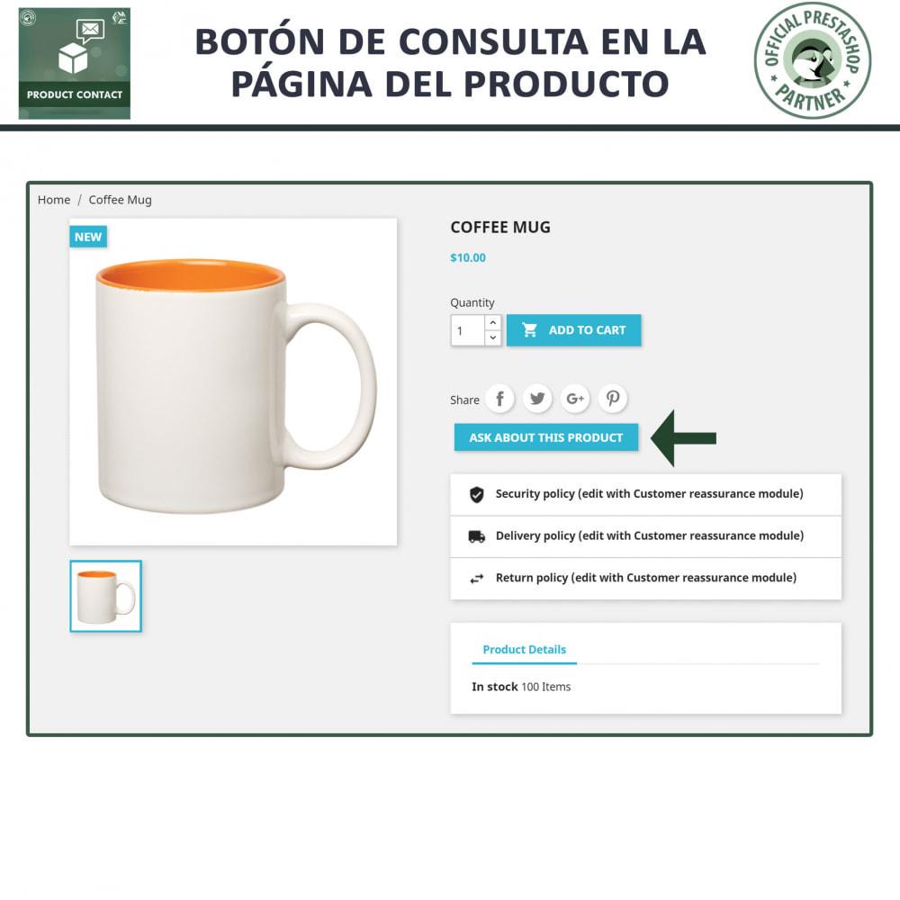 module - Formulario de contacto y Sondeos - Contacto del producto - Formulario de solicitud - 2