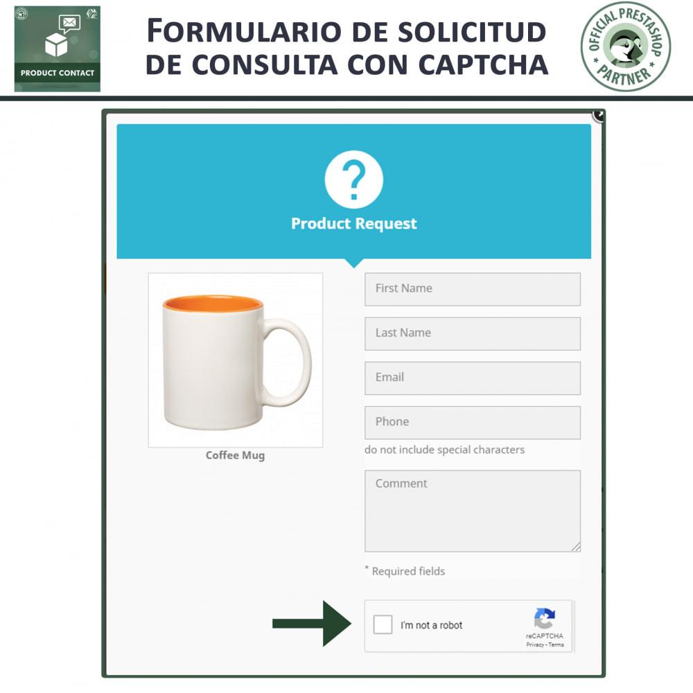 module - Formulario de contacto y Sondeos - Contacto del producto - Formulario de solicitud - 3