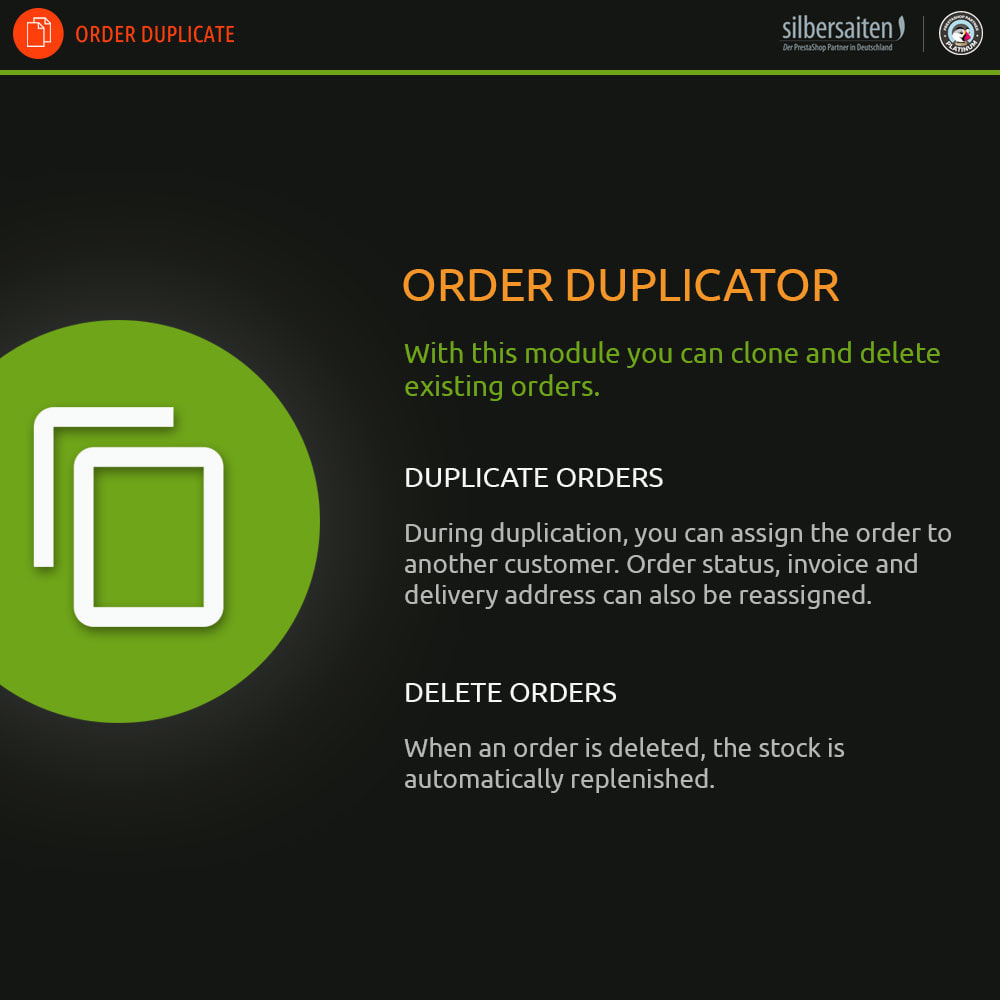 module - Registration & Ordering Process - Order Duplicator – Clone and Delete Existing Order - 1