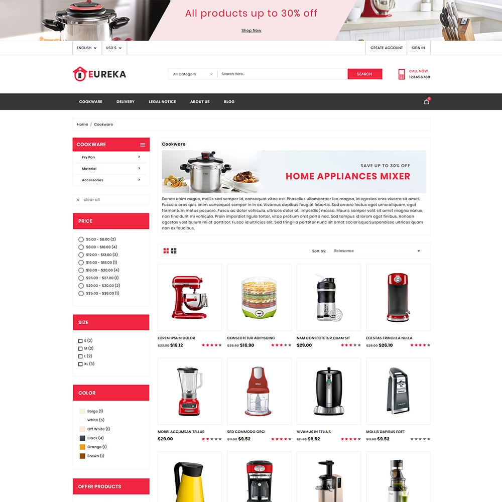 theme - Electrónica e High Tech - Eureka Home Appliances Shop - 3