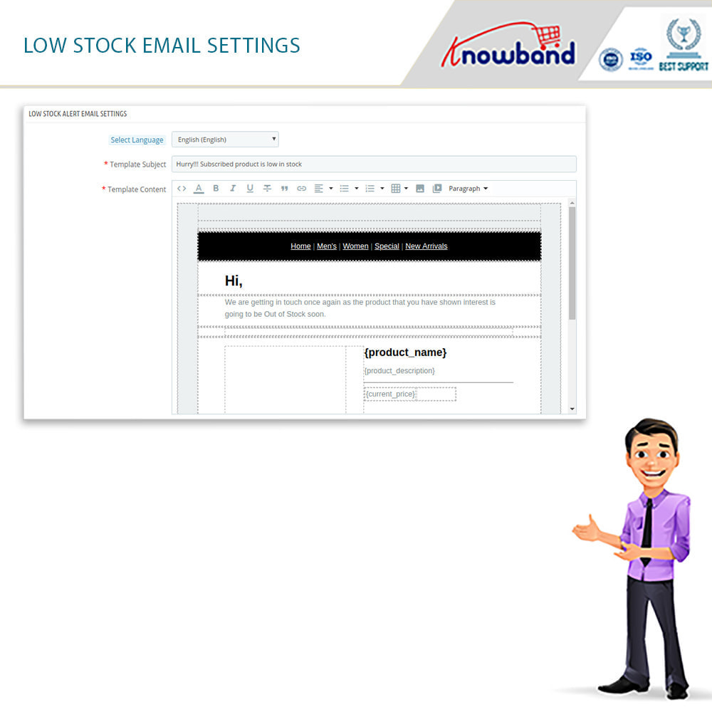 module - Notifications & Automatic Emails - Knowband - Back in Stock Notification - 11