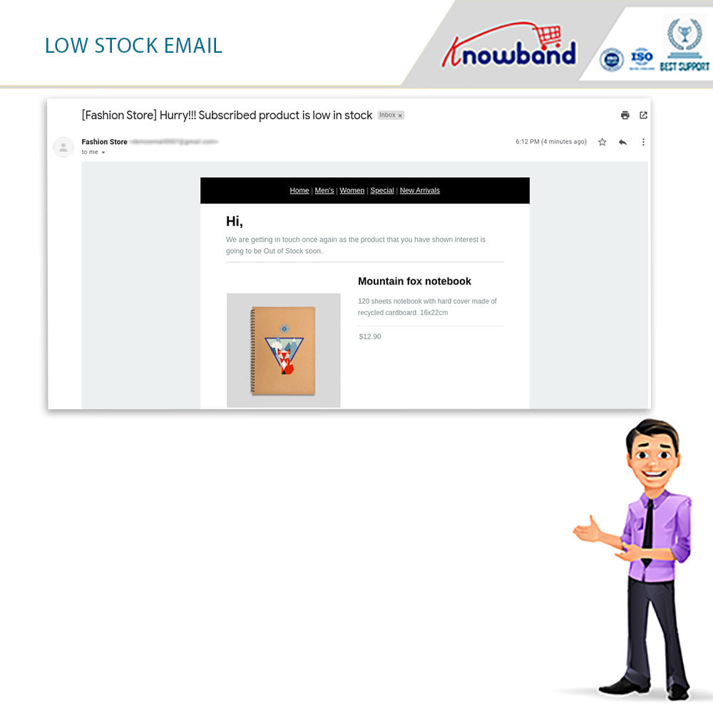 module - Notifications & Automatic Emails - Knowband - Back in Stock Notification - 4