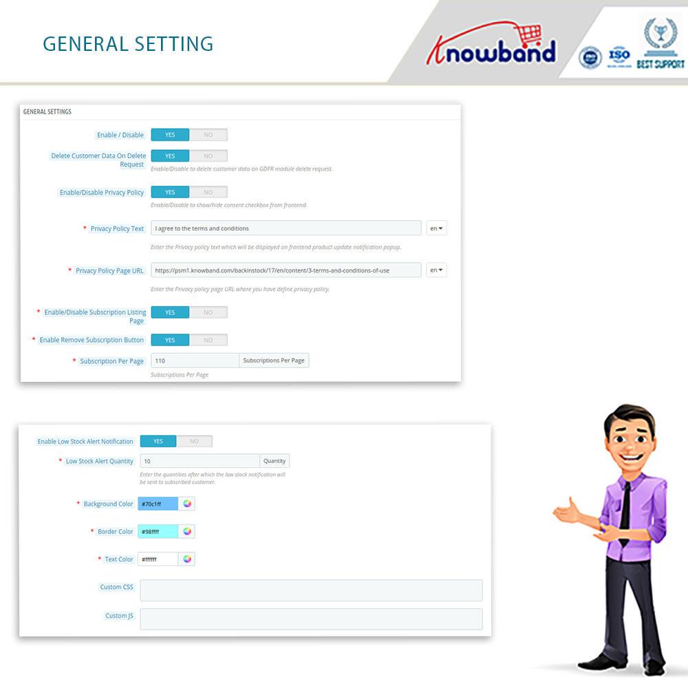 module - E-mails y Notificaciones - Knowband - Notificación De Nuevo En Inventario - 3