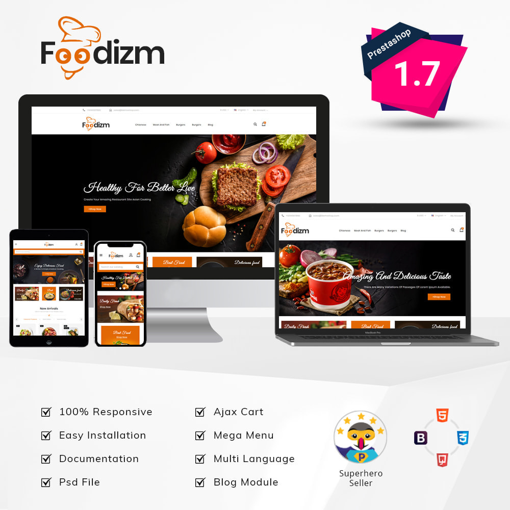theme - Alimentos & Restaurantes - Foodizm - Food Store - 1