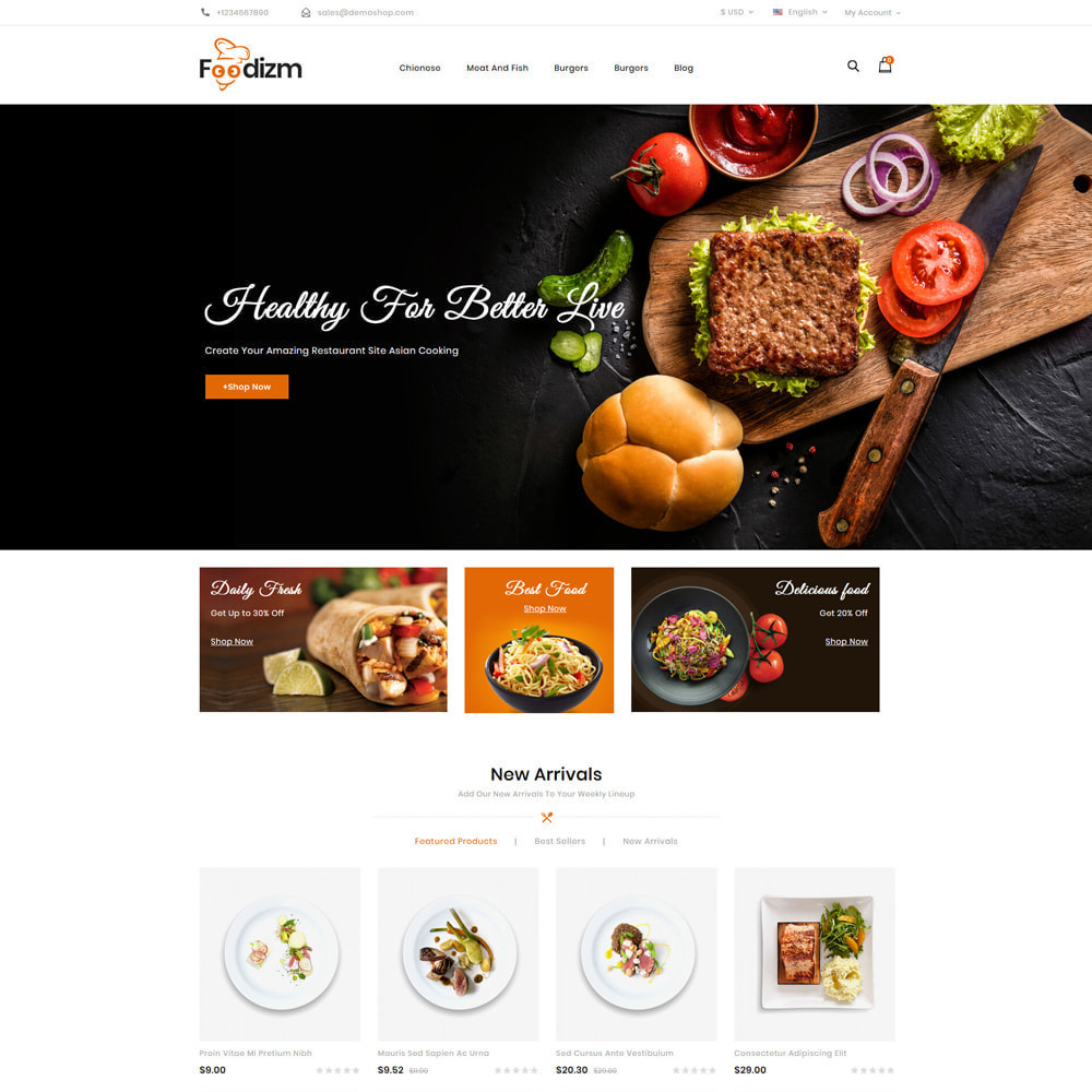 theme - Alimentos & Restaurantes - Foodizm - Food Store - 2