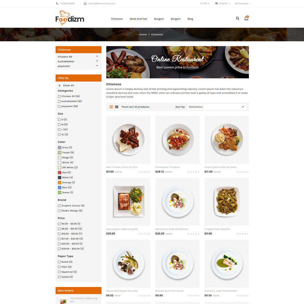 theme - Alimentos & Restaurantes - Foodizm - Food Store - 3