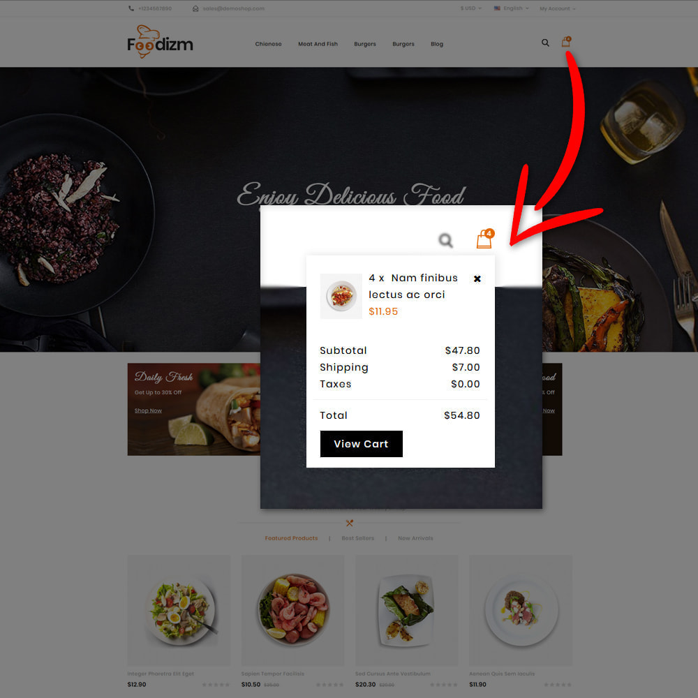 theme - Alimentos & Restaurantes - Foodizm - Food Store - 9
