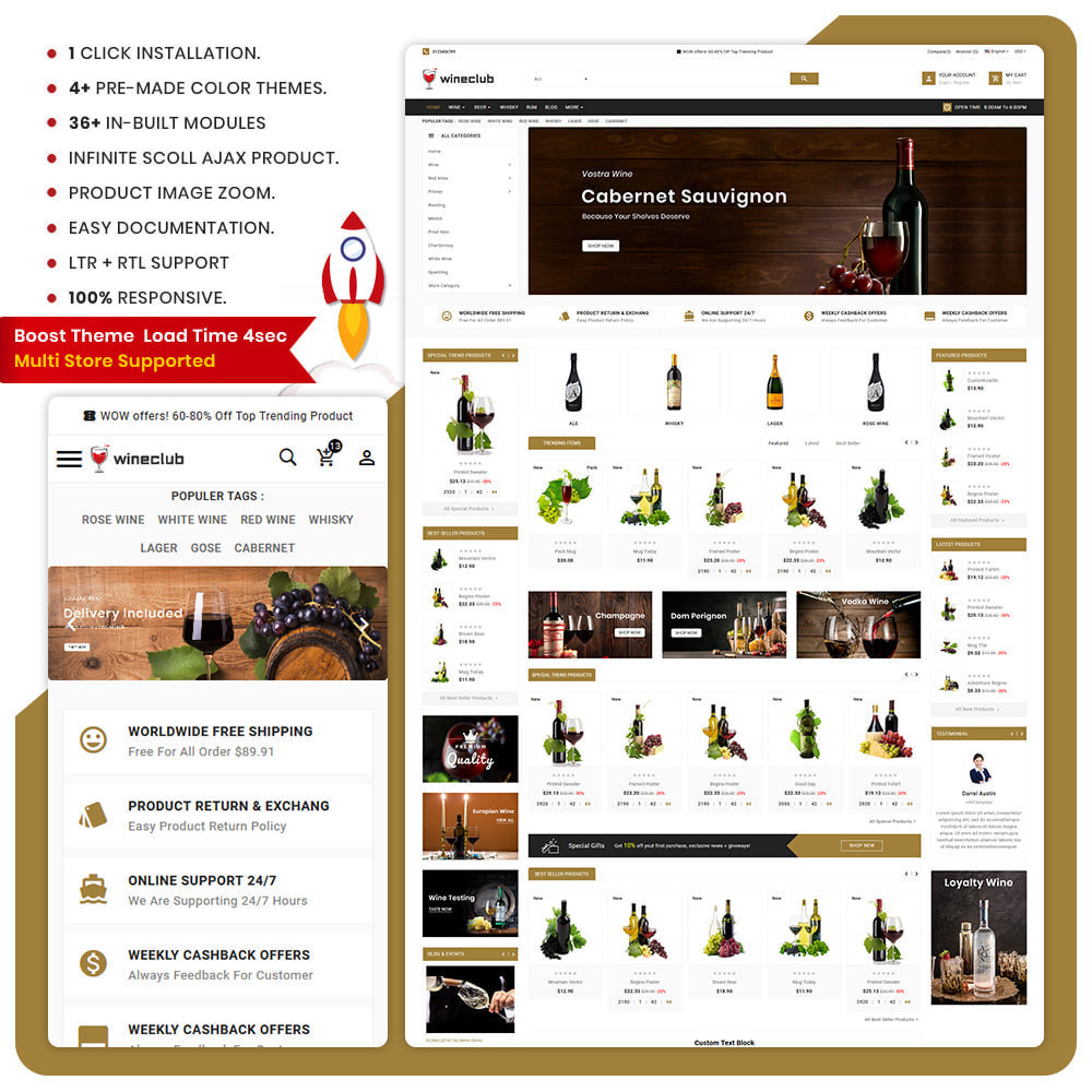 theme - Drink & Wine - USA Wine - Wine Big Store - 1