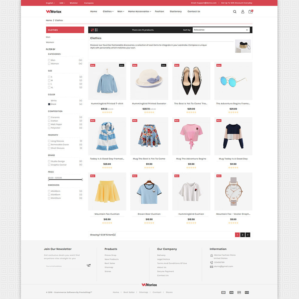 theme - Mode & Schoenen - Woriox - Fashion & Clothing Store - 3
