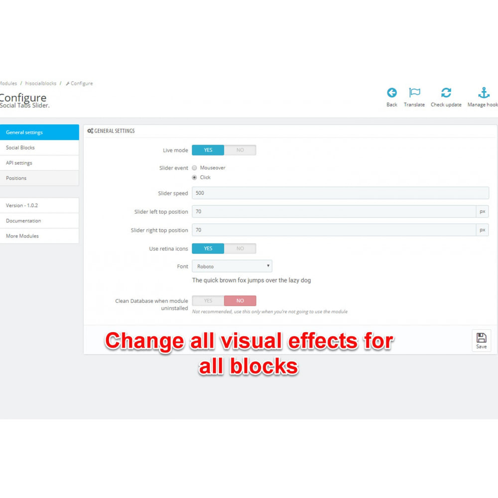 module - Social Widgets - Social Tabs Slider (8 in 1) - 7