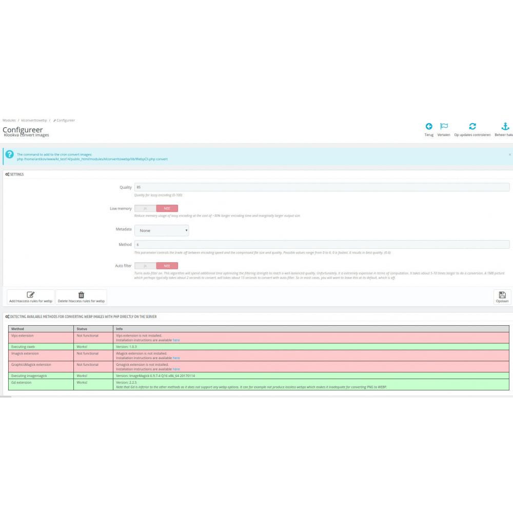 module - Website performantie - WEBP Compress and Convert to next gen images - 5