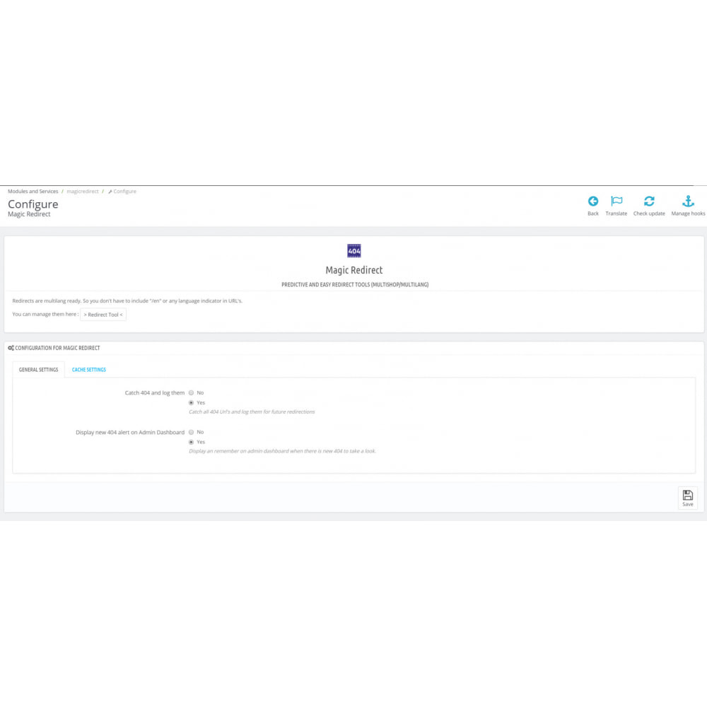 module - URL y Redirecciones - Redireccion URL - 301, Auto-reparación, Multishop & SEO - 3