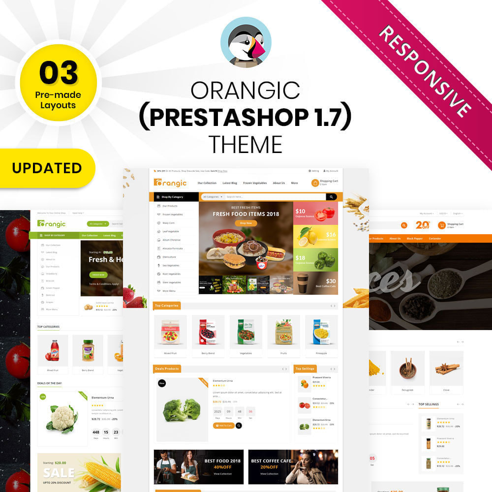 theme - Продовольствие и рестораны - Orangic - The Food Store - 1