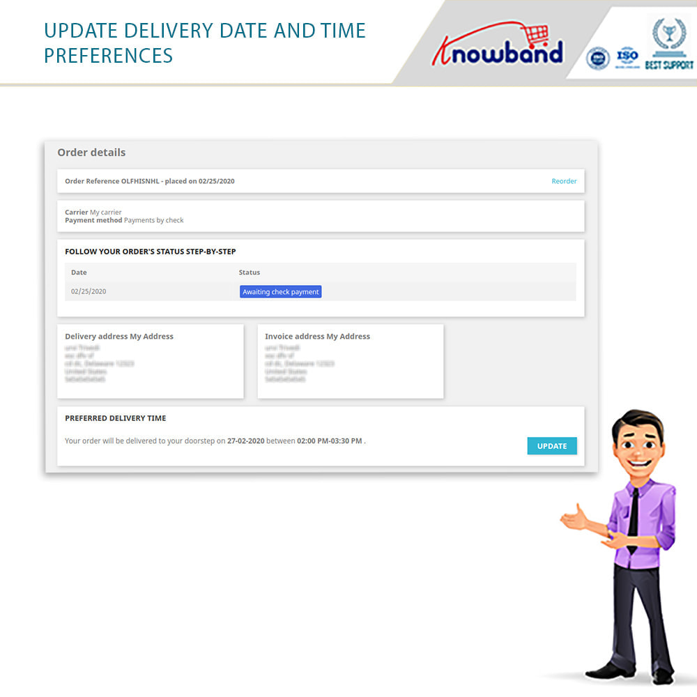 module - Leverdatum - Knowband - Preferred Delivery Time - 7