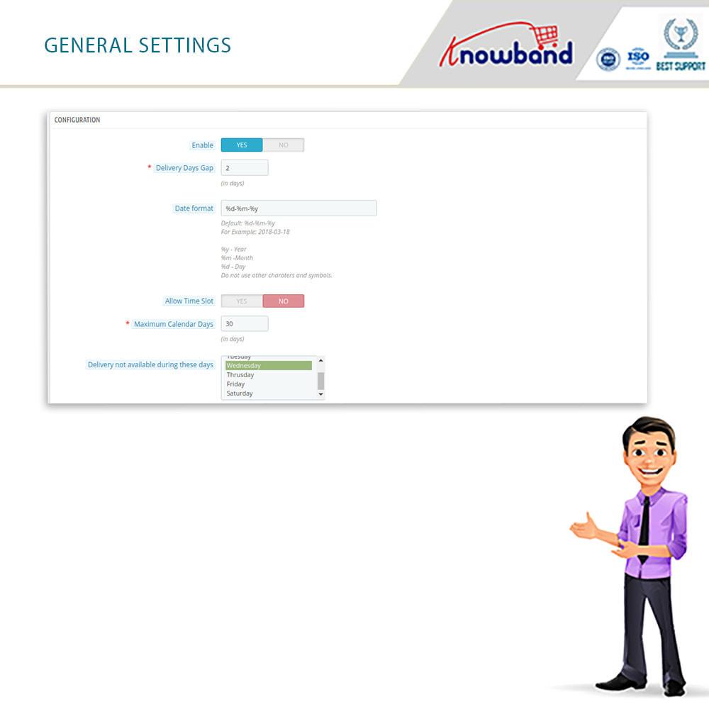 module - Fecha de entrega - Knowband - Tiempo de Entrega Preferido - 15