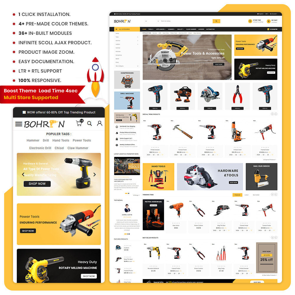 theme - Automotive & Cars - Paris Tools – Tools Big Store - 1