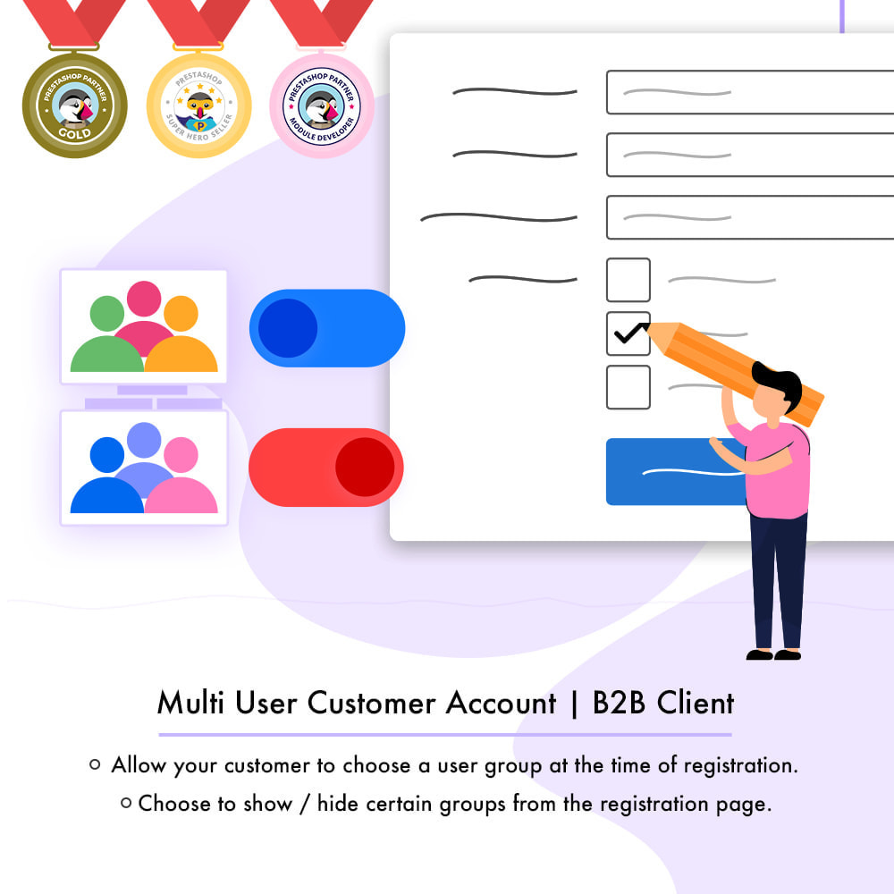 module - Customer Administration - Multi-User Customer Account | B2B Client - 1