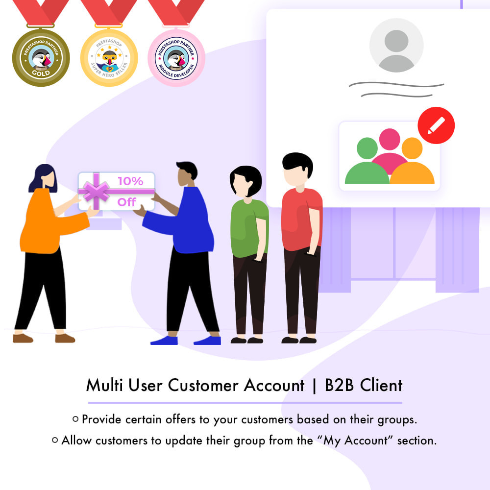 module - Customer Administration - Multi-User Customer Account | B2B Client - 2