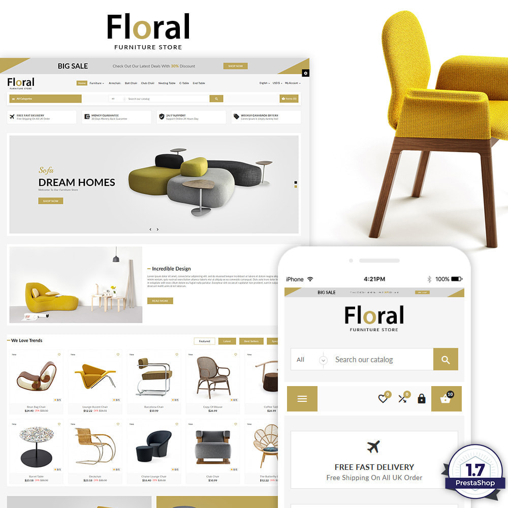 theme - Дом и сад - Floral – The Furniture Multi Purpose Store - 1