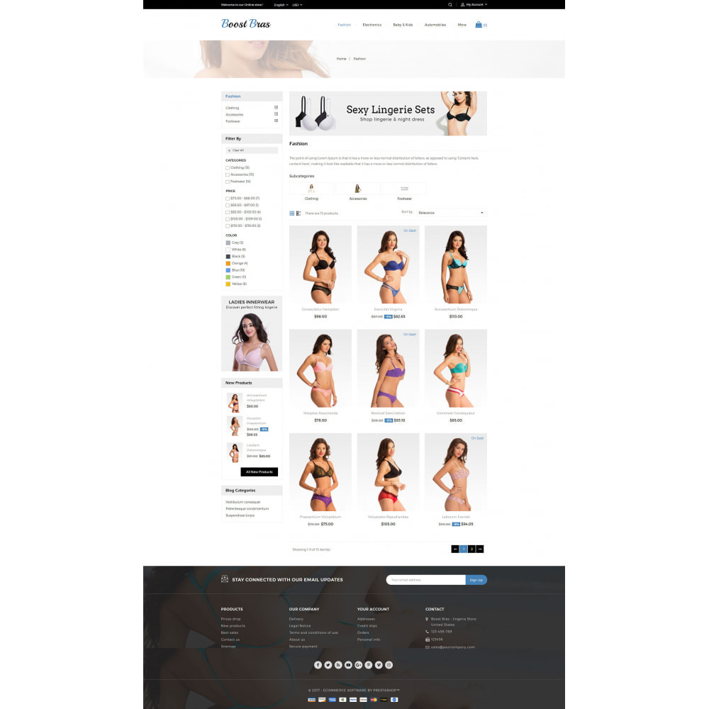 theme - Lingerie & Adulte - Boost Bras - Lingerie Store - 3