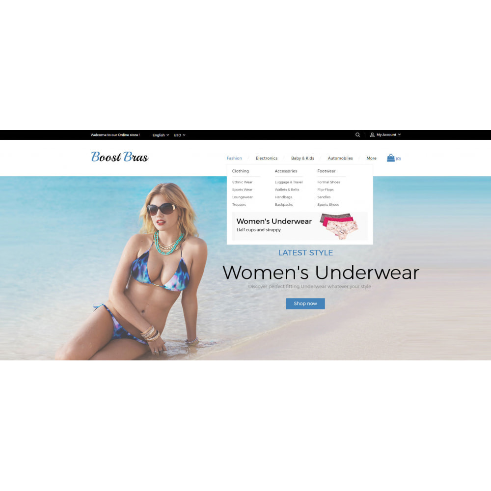 theme - Lingerie & Adulte - Boost Bras - Lingerie Store - 6