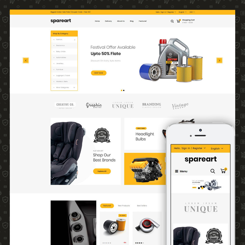 theme - Automotive & Cars - Sparearts - Automobile Store - 1