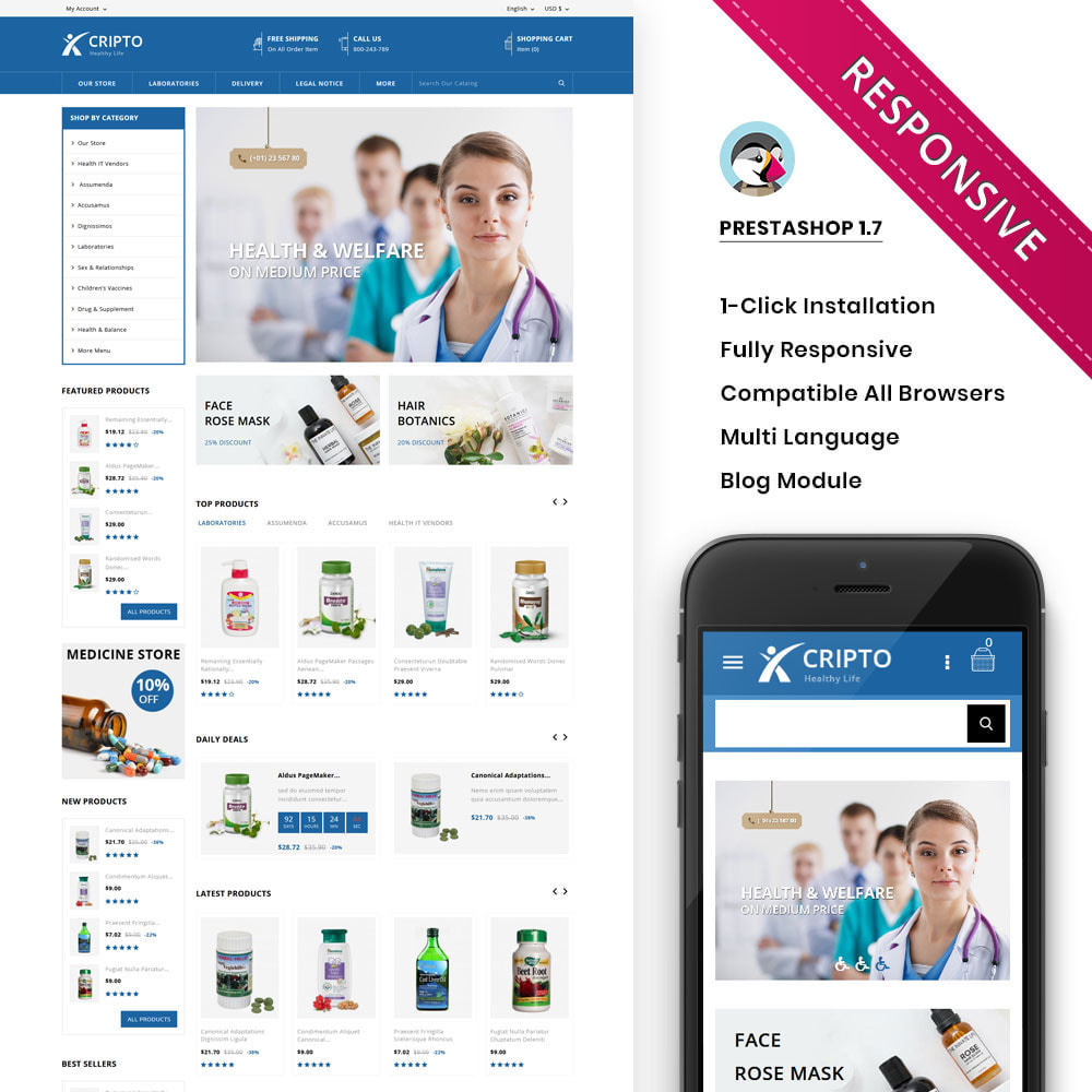theme - Health & Beauty - Cripto - Mega Medicine Store - 1