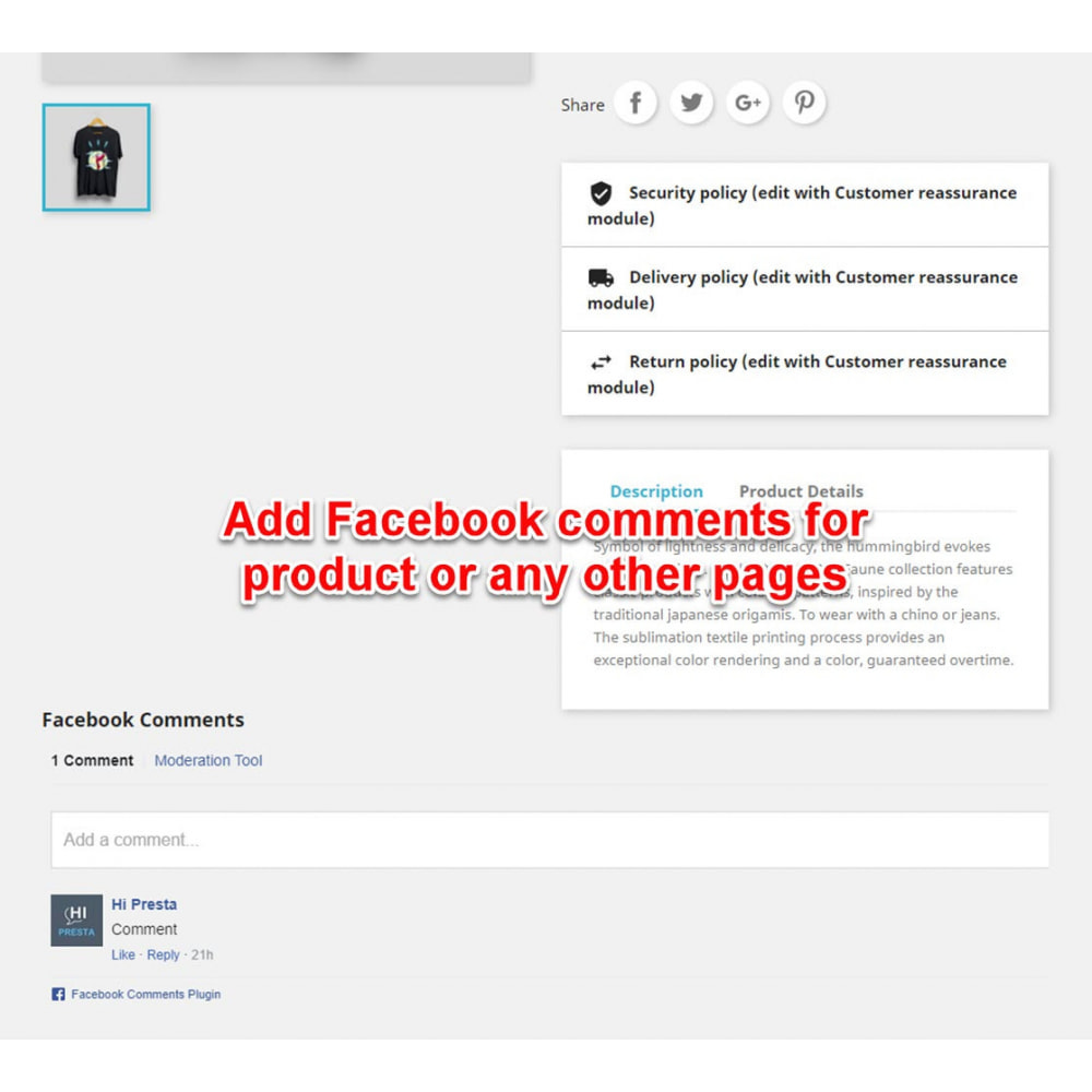 module - Boutons de Partage & Commentaires - The Social Integration - Shop Tab, Comments, Login - 5