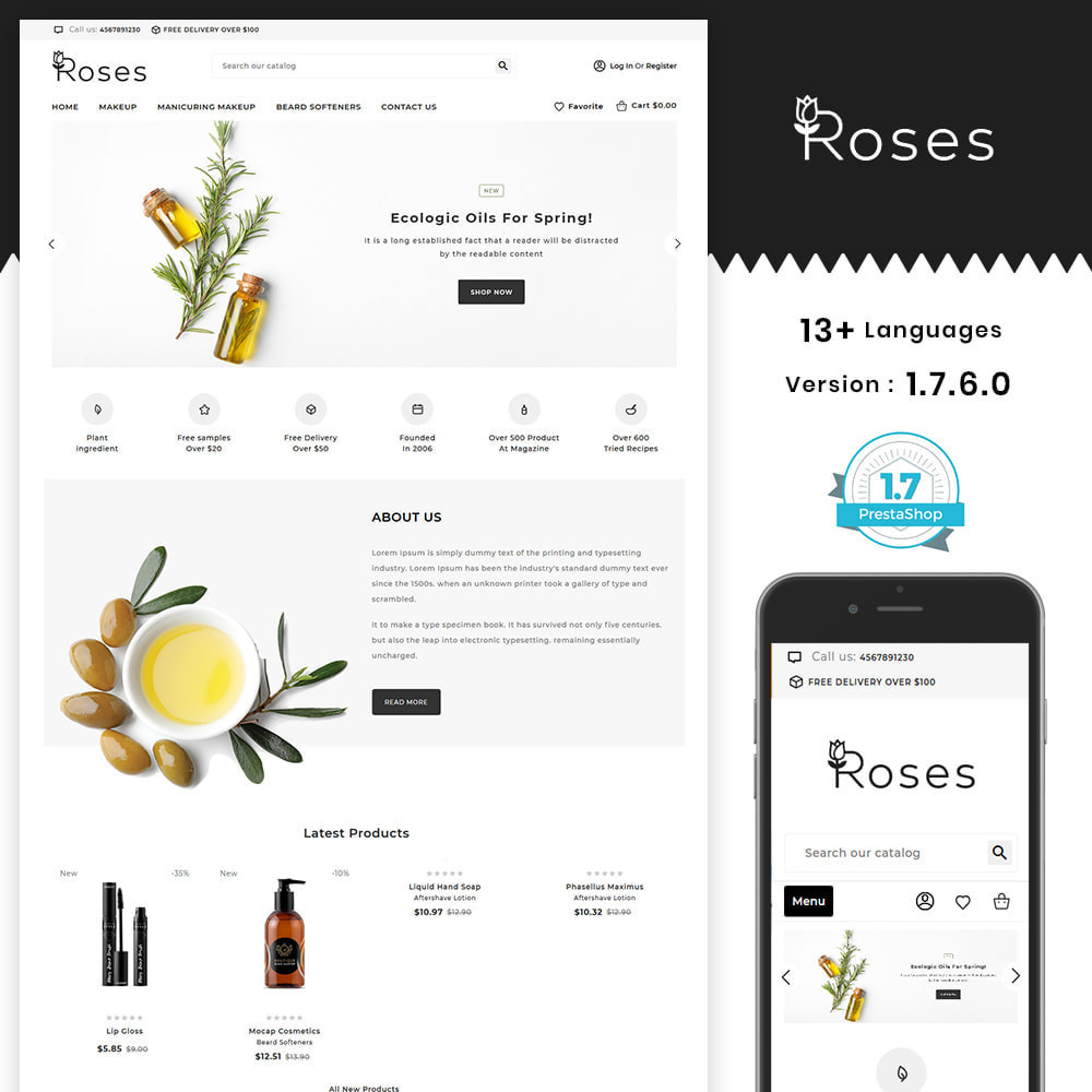 theme - Gifts, Flowers & Celebrations - Roses Cosmetic Store - 1