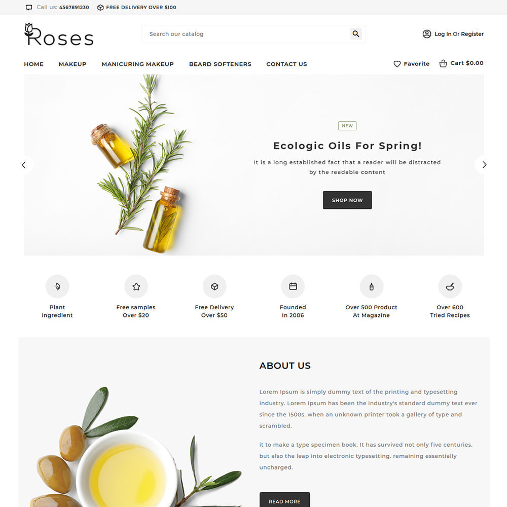 theme - Regali, Fiori & Feste - Roses Cosmetic Store - 2