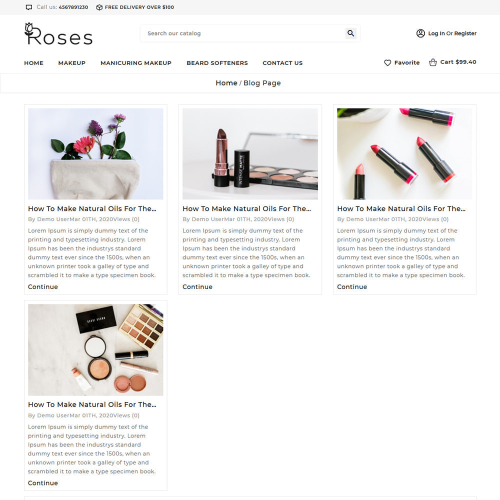 theme - Gifts, Flowers & Celebrations - Roses Cosmetic Store - 7
