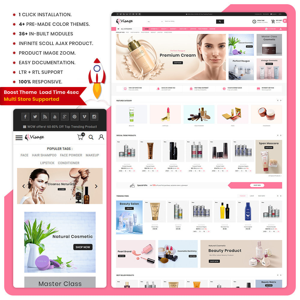 theme - Health & Beauty - Paris Cosmetic – The Cosmetic Super Store - 1